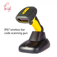 waterproof wireless barcode scanner(with storage function) handheld Wireless Barcode Scanner fast scanning 1pc