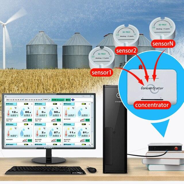 Sensor de humedad inalámbrico 915mhz 868mhz 433mhz, Registrador de temperatura de datos de humedad, transmisor de Sensor de humedad de grano para almacenamiento