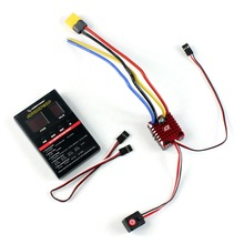 QuicRun WP Crawler Whaterproof Brushed ESC Build-in BEC 2-3S Lipo With LED Programing Card for 1/10 1/8 RC Car F19396