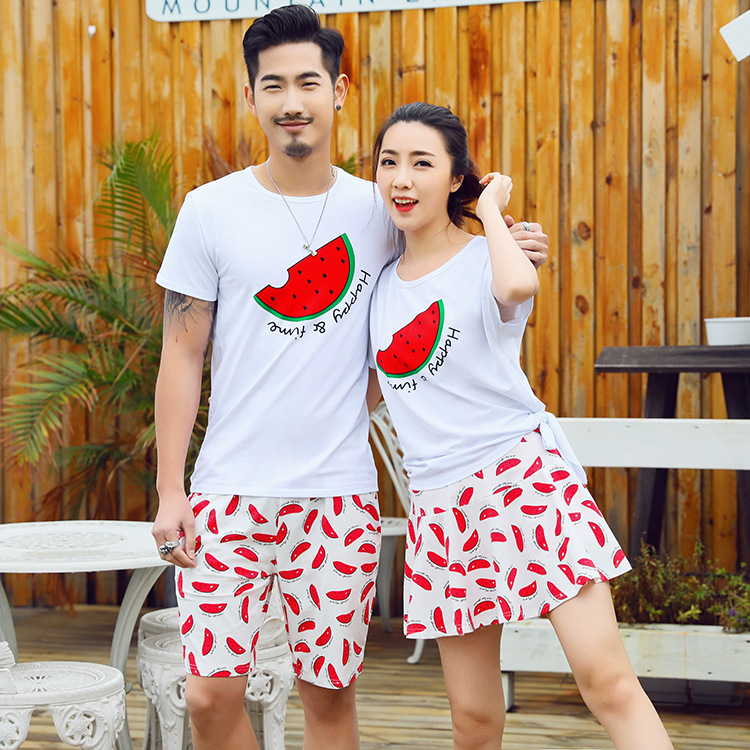2ac3da8ed0a0 2018 Summer Family Matching Clothing Set Korean Fashion Cotton Fashion T  Shirt With Skirt 2pcs Couple  Lovers Beach Sports Suit-in Matching Family  Outfits ...