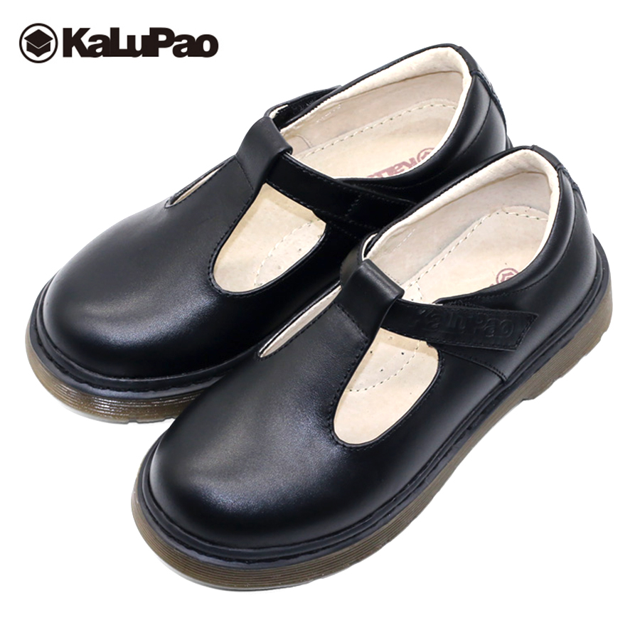 Kalupao 2018 Kids Girls School Leather Shoes Girls Rubber Full Grain Leather Shoes Autumn Black Kids Girls Uniform Show ShoesKalupao 2018 Kids Girls School Leather Shoes Girls Rubber Full Grain Leather Shoes Autumn Black Kids Girls Uniform Show Shoes