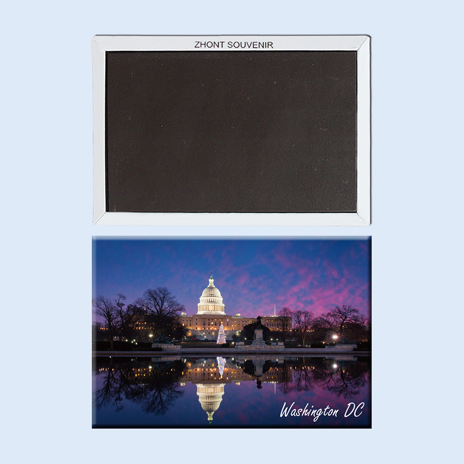 nights Washington DC The United States 22595 Landscape Magnetic refrigerator gifts for friends Travel souvenirs