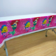108cm*180cm Mermaid Party Supplies Tablecloth For Kids Girls Cover Ariel Theme Birthday Festival Decoration
