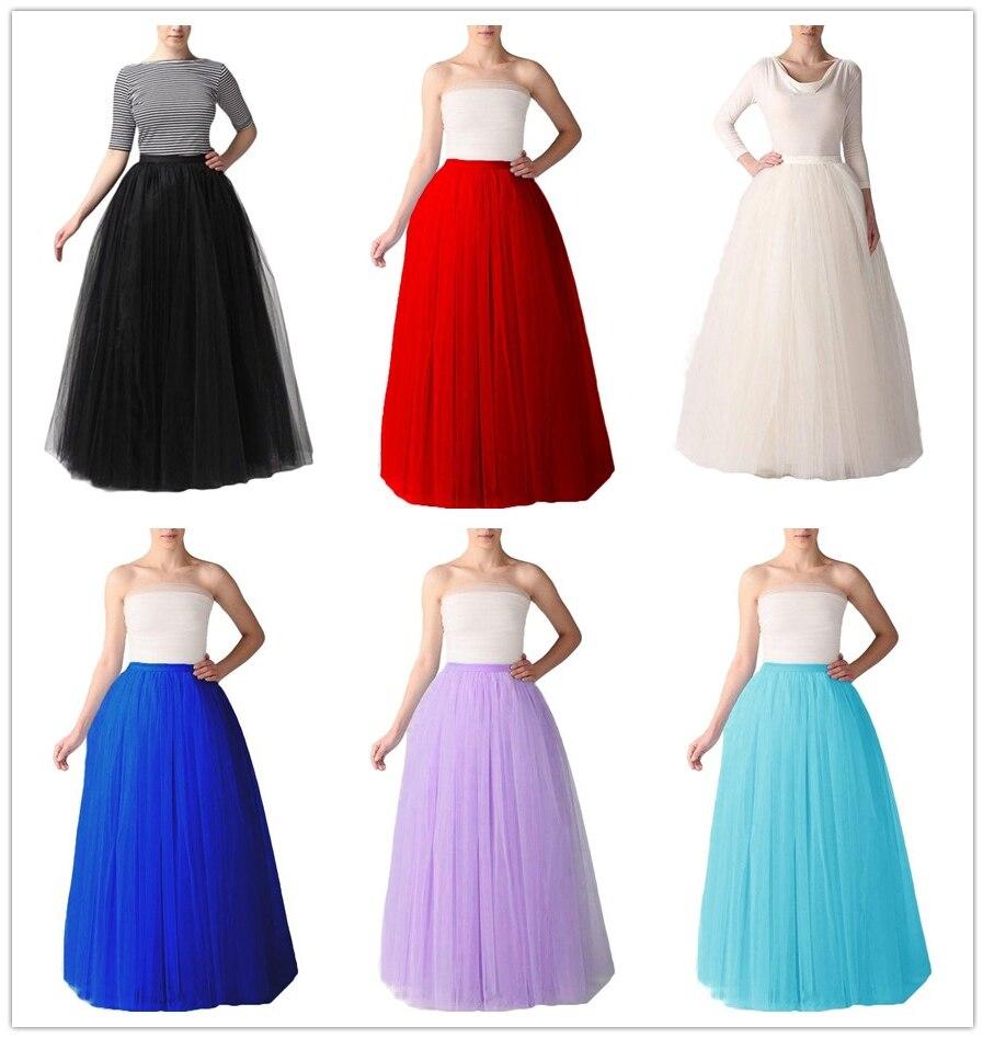 QC6610 Европа и Америка 1 метров пятислойная газовая юбка женская многоцветная длинная юбка для взрослых