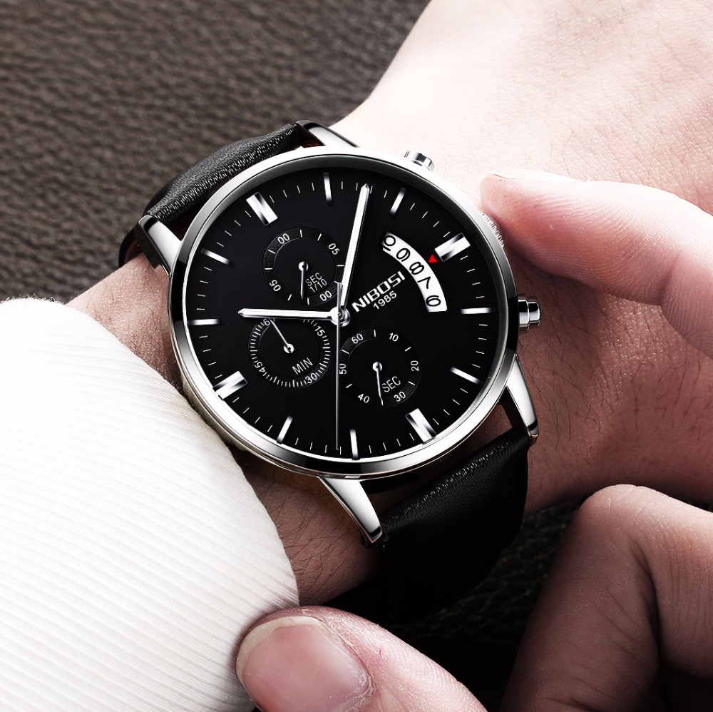Relojes de hombre NIBOSI Relogio Masculino, relojes de pulsera de cuarzo de estilo informal de marca famosa de lujo para hombre, relojes de pulsera Saat 52