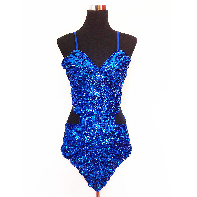 Image 5 - 2019 New Adult Latin Dance Dress Women Cha Cha Sequin Rumba Samba Ballroom Clothing For Dance Roupa Infantil FemininaLatin   -