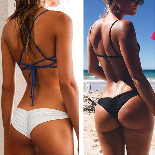6217c1b9c209 Sexy Women Bikini Pants Brazilian Cheeky Bottom Low Rise Thong V Underpants  Underwear Panties Briefs Thongs T Back XH-in women's panties from Underwear  ...