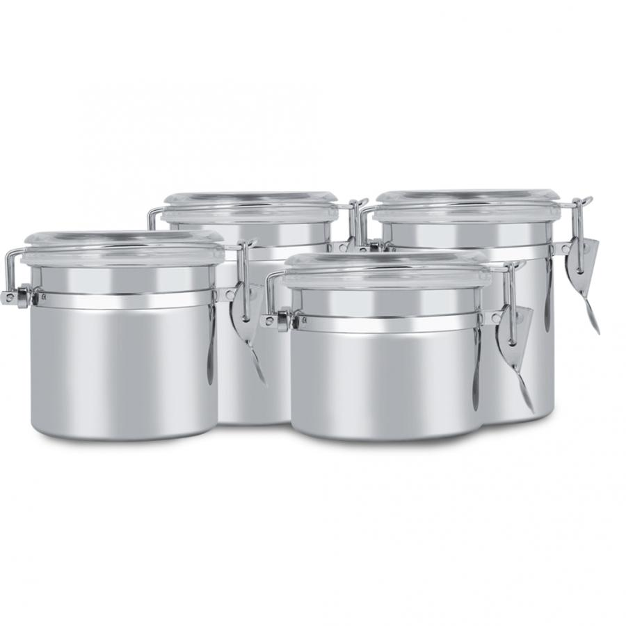 Kitchen Storage Container Stainless Steel Coffee Canister Food
