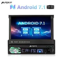 Pumpkin 1 Din 7'' Android 7.1 Car Radio No DVD Player GPS Navigation Bluetooth DAB+ Car Stereo 2GB RAM FM Rds Wifi 3G Headunit