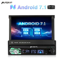 "Pumpkin 1 Din 7"" Android 7.1 Car Radio No DVD Player GPS Navigation Bluetooth DAB+ Car Stereo 2GB RAM FM Rds Wifi 3G Headunit"