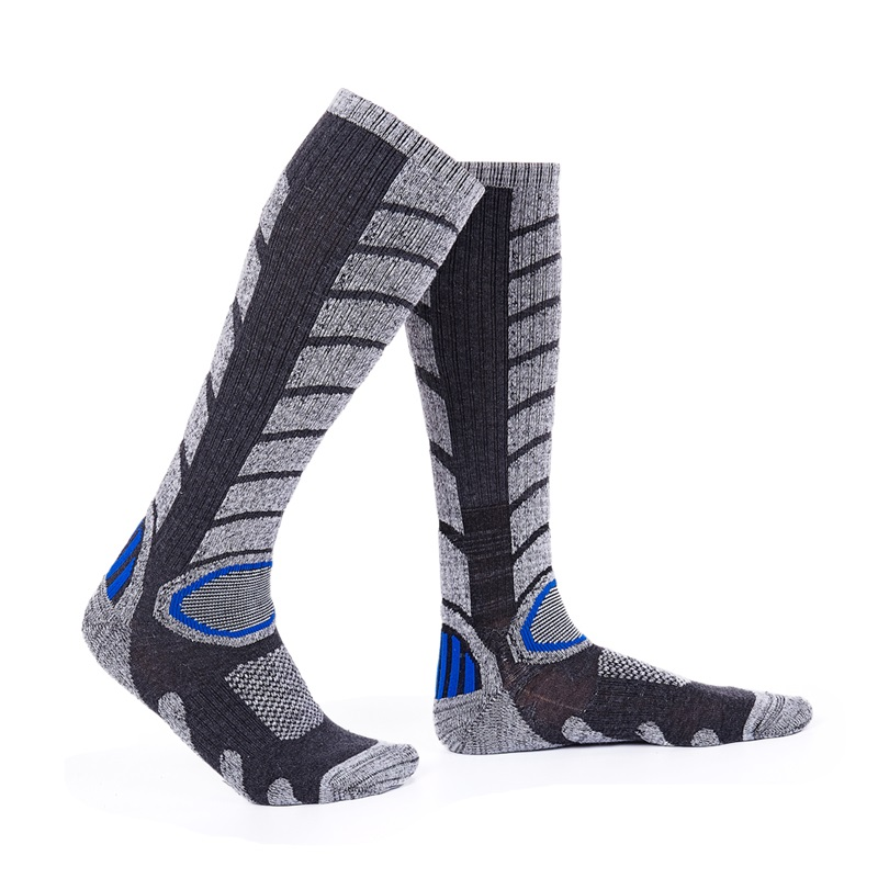 R-BAO Winter Thermal Skiing Socks Outdoor Sport Cotton Long Socks Snowboard Cycling Running Hiking Terry Socks For Men Women M&L
