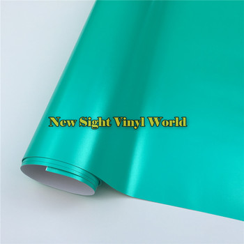 Best Quality Tiffany Blue Satin Metallic Vinyl Wrap Film Roll Air Bubble Free Wrapping Foil Car Sticker