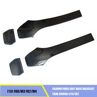 Carbon Fiber Seat Back Backseat Trim Covers 4 PC/Set Fit For BMW F80 M3 F82 M4