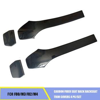 Carbon Fiber Seat Terug Achterbank Trim Covers 4 stk/set Fit Voor BMW F80 M3 F82 M4
