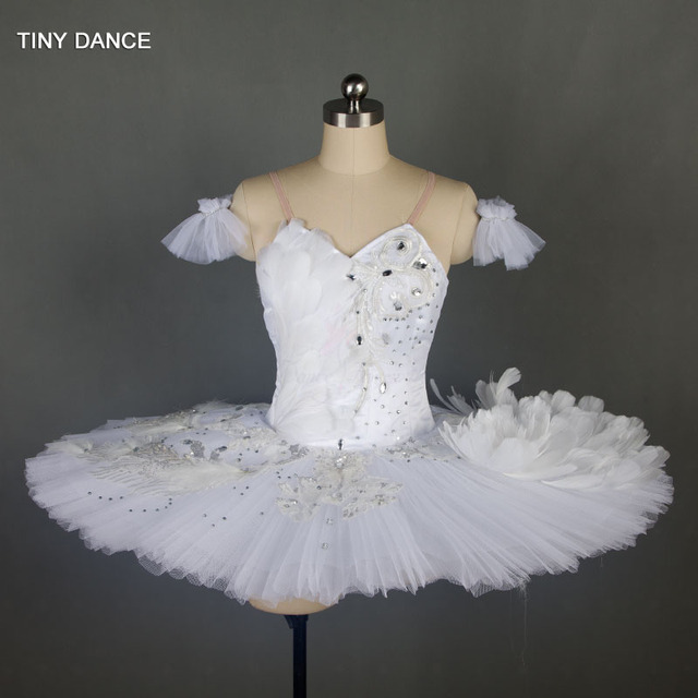 7649f8698 Swan Lake Ballerina Dance Costume Professional White Ballet Dance Tutus for Girls  Competition Performance Classical Tutu