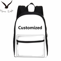 Hynes Eagle Customized Individual Image Photo 3D Printing Backpacks Canvas School Bag Laptop Backpacks Travel Casual Backpacks
