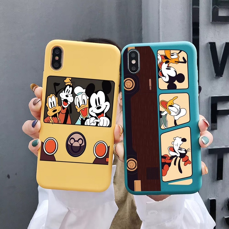 Cartoon Goofy and Minnie <font><b>Mickey</b></font> Donald Daisy Duck Soft candy Silicone <font><b>coque</b></font> for <font><b>iPhone</b></font> 11 11pro max XR 7 8 Plus 6s XS MAX Cover image