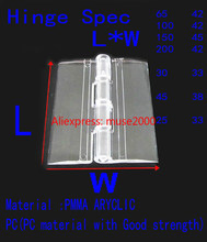 Transparent door hinges 25 30 45 65 100 150 200 300 mm , arcylic plastic clear latch pet hamster cage show exhibition cupboard(China)