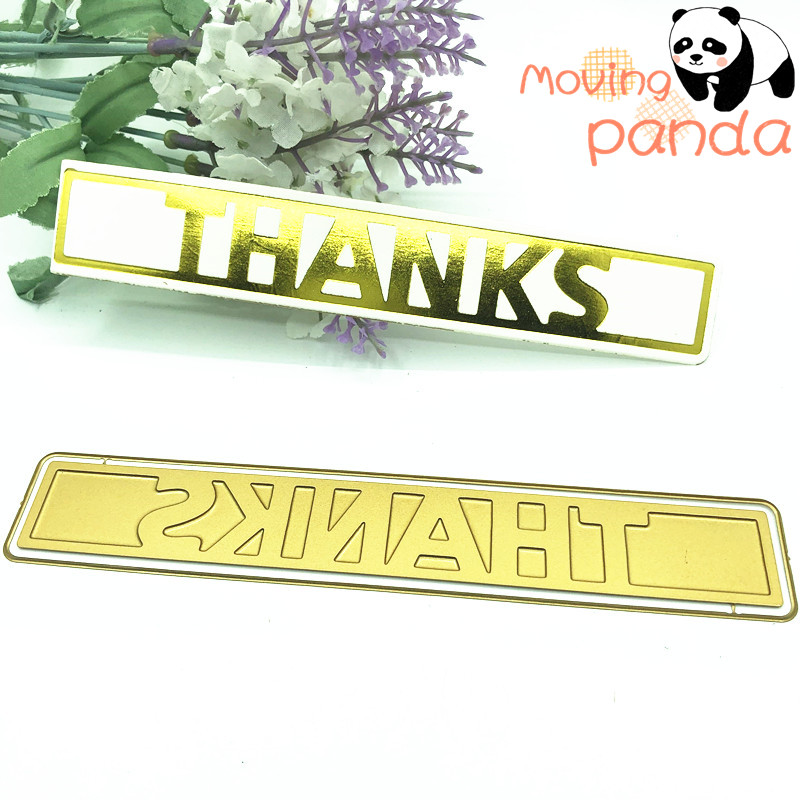 THANKS HOT FOIL PLATE Metal Cutting Dies DIY Photo Album Embossing Die Cut Scrapbooking Stencils Hot Stamping Foil