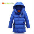 Children winter jacket duck down high quality warm jacket Longer thicker boys coat children hooded outwear FOR 150-170 CMKU722