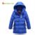 Niños chaqueta de invierno chaqueta de plumón de pato de alta calidad caliente Más grueso niños niños de la capa con capucha outwear PARA 150-170 CMKU722