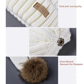 FURTALK Winter Pompom hat for Kids Ages 1-10 Knit Beanie winter baby hat for children fur Pom Pom Hats for girls and boys 2