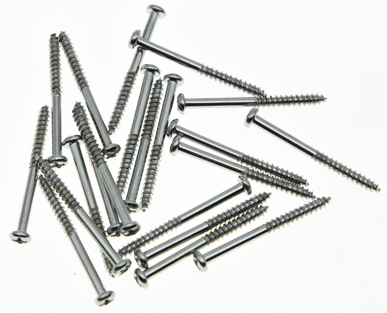 20x Chrome Bass Pickup Mounting Screws for Precision Bass