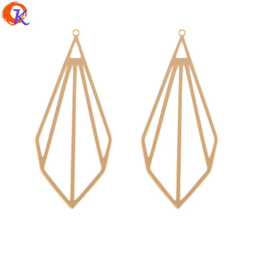 Cordial Design 40Pcs 20*47MM Jewelry Accessories/DIY Making/Charms/Drop Shape/Genuine Gold Plating/Hand Made/Earrings Findings