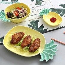Creative Cute Ceramic Pineapple Plate Bowl Dish Fruits For Restaurant Plates Home Piatti Ceramica Snack