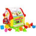 Multifuncional musical toys colorido bebê casa de diversão musical eletrônico blocos geométricos classificação de aprendizagem educacional toys presentes