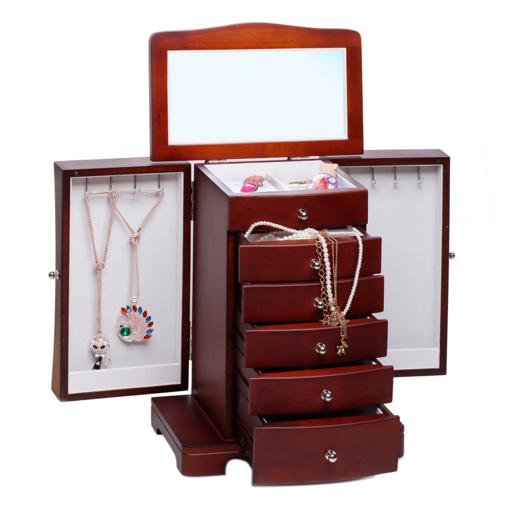 ROWLING Extra Large Mirror Wooden Jewellery Box