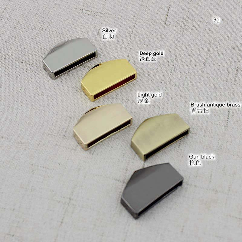 10pcs 25mm 17mm 15mm decoration end clips by screws,high quality light gold color hardware straps tail clasp accessory