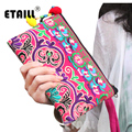 National Hmong Embroidered Wallet Purse Handmade Ethnic Flowers Embroidery Women Long Wallet Day Clutch HandBag Sac a Dos Femme