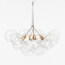 9 /12 /20 Heads Nordic Concise Art Molecular Glass Chandelier Creative Designer Glass Bubbles Hanging Light Fixtures