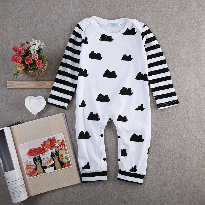 224a0228f Newborn Baby Boy Clothes Striped Cotton Romper Jumpsuit Outfits ...
