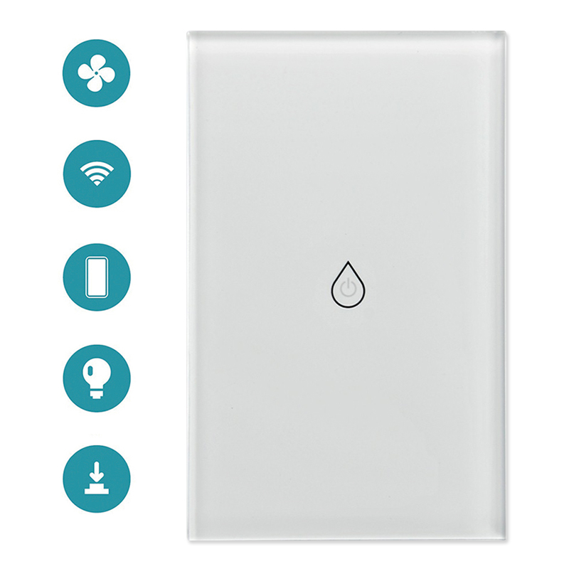 US Plug Smart Wifi Water Heater Switch Boiler Switches Alexa Google Home Voice Touch Panel Timer Outdoor 4G App Control-in Home Automation Modules from Consumer Electronics