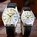 fashion funny wrist lover watches leather quartz couples watch man and ladies couple hours men women clock