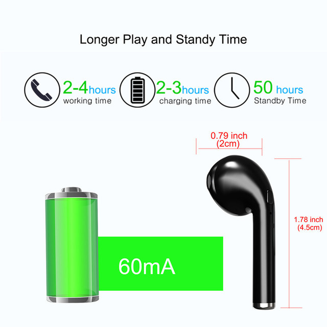 Bluetooth Earphone Mini Wireless in ear Earpiece Cordless Hands free Headphone Blutooth Stereo Earbuds Headset For Phone Samsung