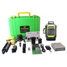 Fukida nível laser, nível automático 4d, 16 linhas, 515 nm, nivelamento automático, inclinação vertical e horizontal, 360 & exterior