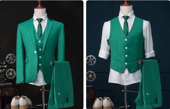 Aliexpress.com : Buy New men slim show suit green wedding dress ...