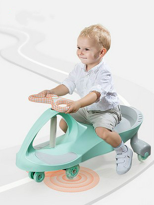 The children twist car baby yo Walker swing car with music the upgraded version of the six round meters blueprint baby swing car with light music four children skating factory direct driv