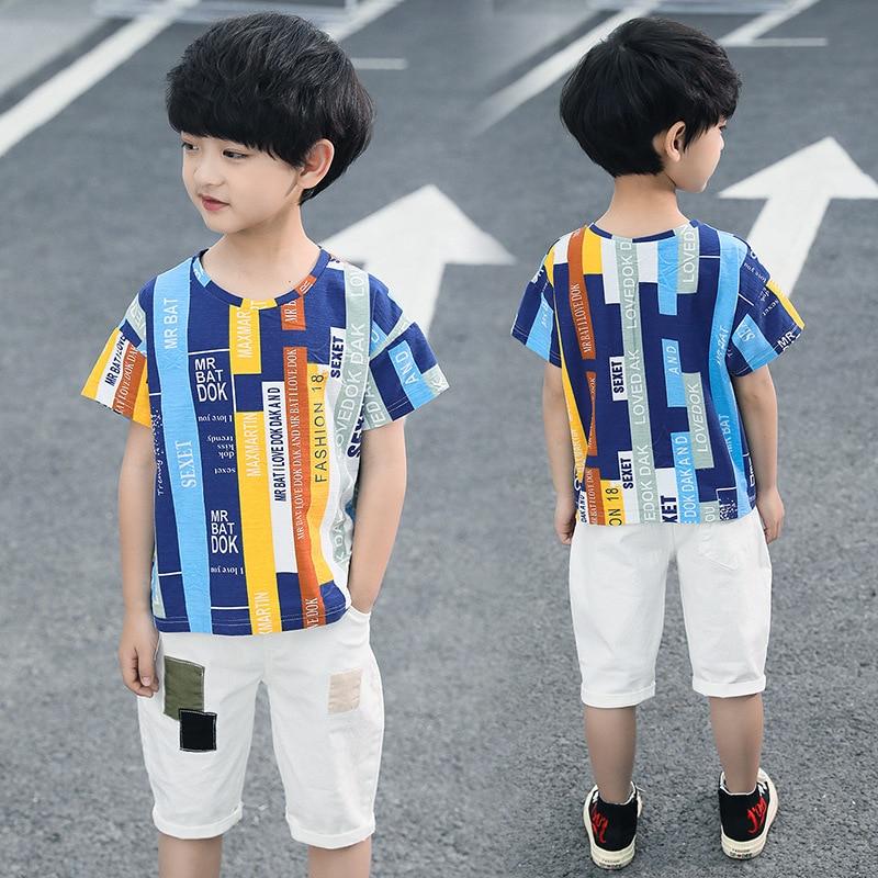 SALE Bamboo Fabric Boys Childrens Top Tshirt Trouser Set