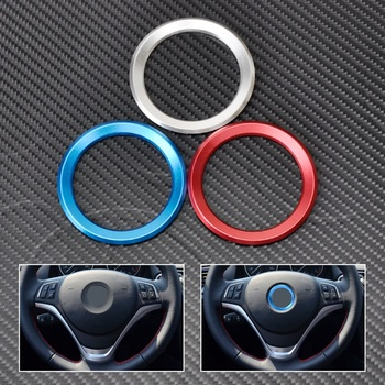 CITALL Steering Wheel Center Decoration Ring Cover For BMW 1 3 4 5 7 Series M3 M5 GT3 GT5 X1 X3 X5 X6 F25 E70 E71 2013 2014 2015 image
