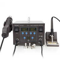 ba-8702D double digital display hot air gun desoldering station two in one electric iron