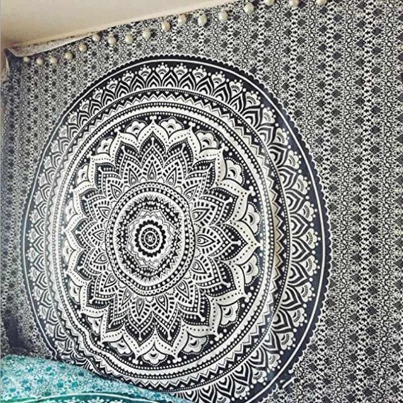 บ้าน Creative Tapestry อินเดีย Mandala แขวนผนัง Boho ชายหาดผ้าขนหนูโยคะพรมตารางผ้าปิคนิค w3-new-LS-MTL01-5
