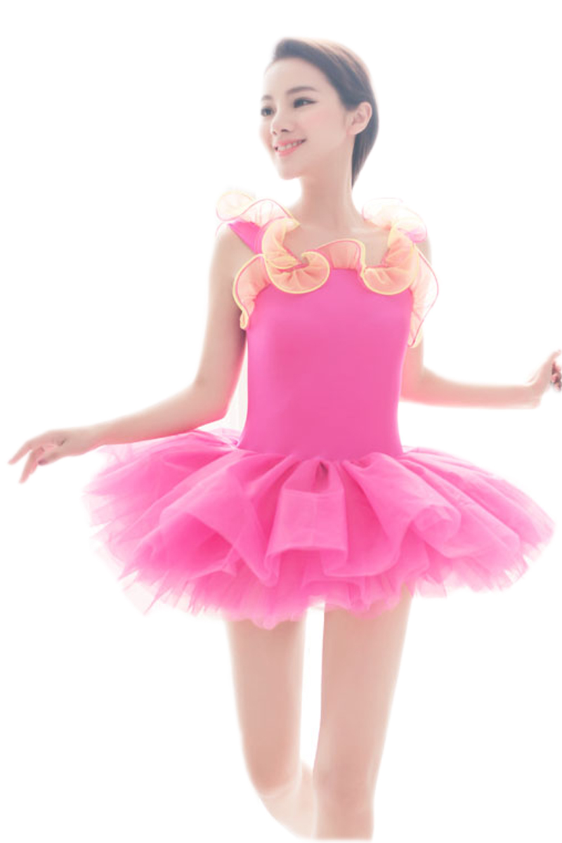 ᗑTrajes De la Danza del tutú azul verde rosa vestido profesional ...