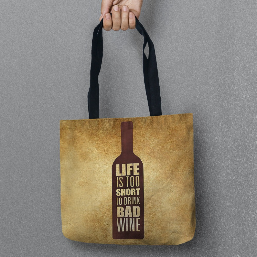 Stylish Wine Tote Storage Bags Convenience Women Shoulder Handbags Linen Bag For Vegetable And Fruit 1pcs & ?Stylish Wine Tote Storage Bags Convenience Women Shoulder Handbags ...