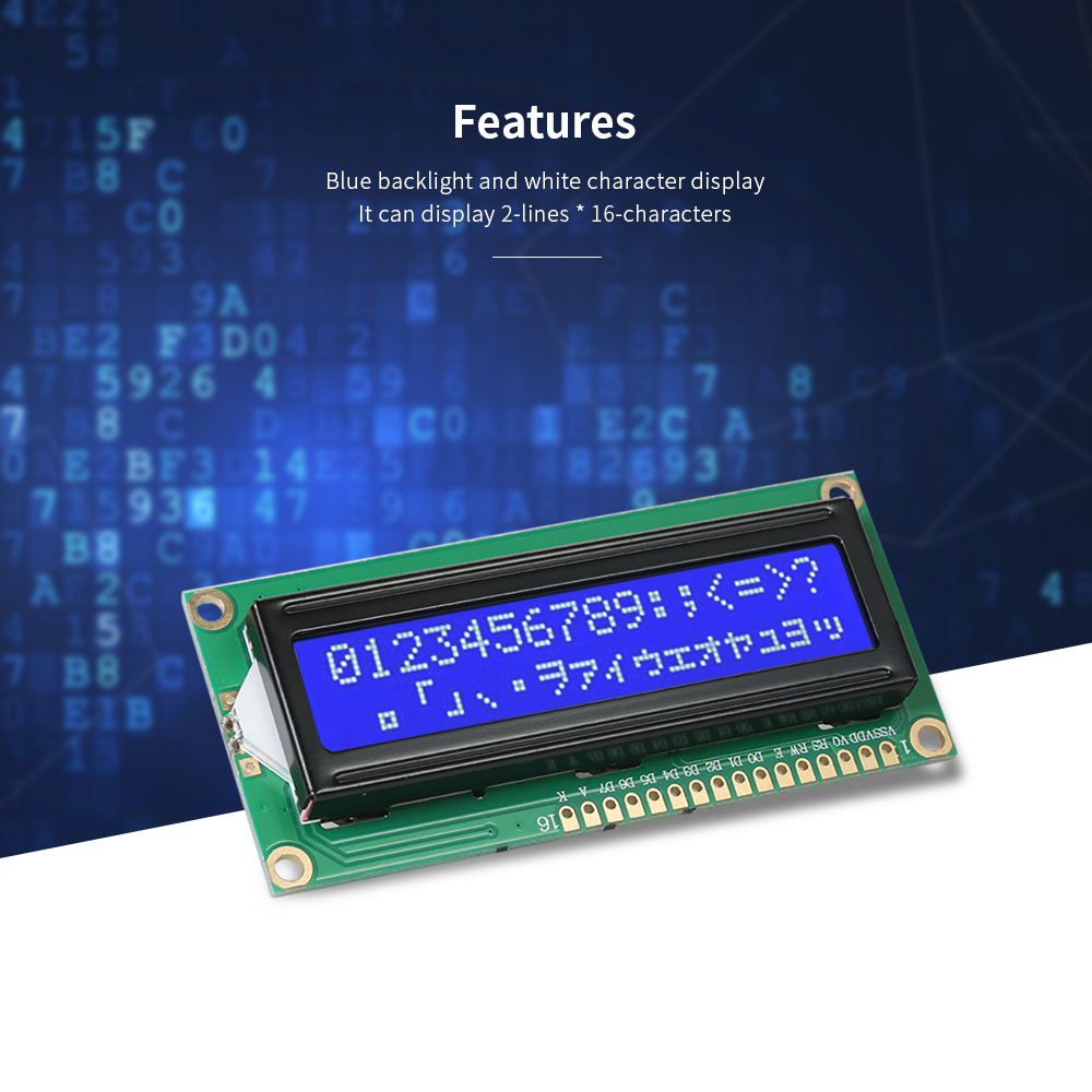 10pcs 1602A Blue Backlight 2-Lines * 16-Characters HD44780 Character LCD Display Modules for Arduino