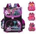 2017 Children School Bags For Girls Orthopedic Waterproof Backpacks Kid Priness Butterfly bag Satchel Knapsack Mochila escolar