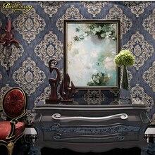 3D deep embossed wallpaper engraved wallpaper European noble Damascus bedroom living room background wallpaper papel de parede